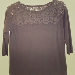 NY&Co 3/4 Sleeve Lace Top Sweater